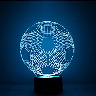 alisable 3D Lampe Fußball Awaken bb-8Night 7Farbe ändern Best Geschenk Nachtlicht LED Einrichten Schreibtisch Tisch Beleuchtung Home Dekoration Spielzeug