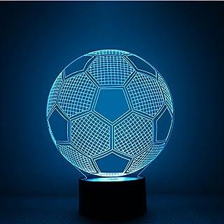 Alisabler 3d Lamp Football Awaken Bb-8 Night 7 Color Change Best Gift Night Light LED Furnish Desk Table Lighting Home Decoration Toys