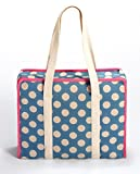 Prym All-in-one Tasche Large Dots Leinen L Handarbeitstasche, Canvas, hellblau, beige, rosa, L