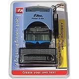 Shiny S-884Tampon texte personnalisable auto-encreur Bleu, Jusqu'à 5lignes de texte, entreprises, tampons, tampon d'Adresse