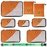 Best Compression Packing Cubes - Copper Orange Pro Packing Cubes 8pcs by Martian Review