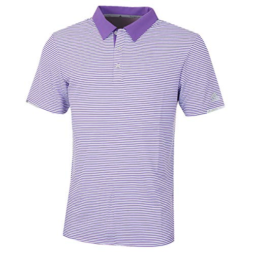 adidas Herren Climachill Tonal Stripe Polo Shirt Poloshirt Violett (Morado Dq2253) Large -