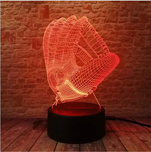 8320 Usb (Neuheit Softball Mitt Nachtlicht 7 Farbwechsel Led Lampe Stimmung 3D Baseball Handschuh Schlafzimmer Dekor Beleuchtung Kinder Geschenke)