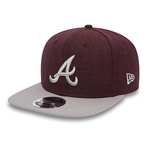 New Era Seasonal Heather 9Fifty Snapback Cap Atlanta Braves Bordeaux Grau, Size:S/M - Atlanta Braves-snap