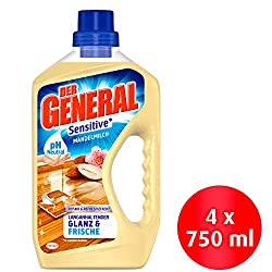 The General Sensitive Almond Milk, All Purpose Cleaner, (4 x 750 ml)