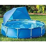 vidaXL Poolüberdachung Sonnenschutz Sonnendach für Schwimmbecken Schwimmbad