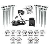 CLGarden LEDSPL12 Ensemble de projecteur de luxe LED (Ensemble de 12) grand projecteur à LED avec 12 poignées en blanc chaud 1 Watt HighPower LED, projecteur CNC moulé en aluminium