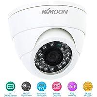 KKmoon Cámara Domo de Vigilancia (CCTV, 800TVL, 24 LED, Amplio Ángulo, IR) Seguridad para Hogar