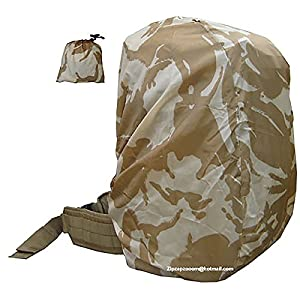 51VIqPkQpXL. SS300  - Rucksack Rain Army Camo Waterproof Bag Military Cover Backpack Desert Sand Combat Camo