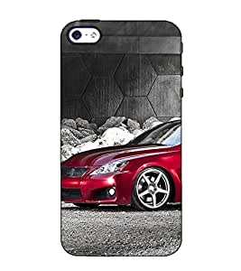 Fuson Designer Back Case Cover for Apple iPhone 4S (A car under bridge theme)