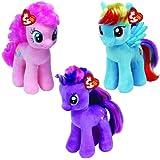 TY Beanie Baby My Little Pony - Set of 3 (Rainbow Dash, Pinkie Pie & Twilight Sparkle)