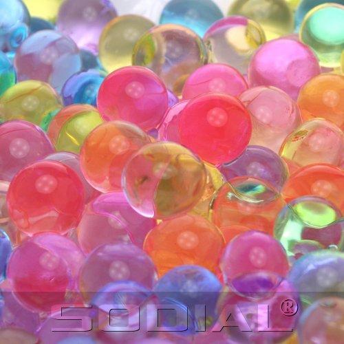 SODIAL (R) 5 Sacchetto pallino colorato di cristallo magica dell'acqua gelatina terreno del fango - misto a
