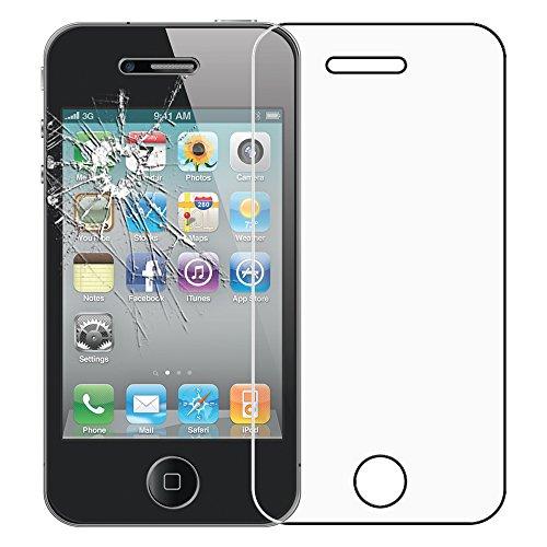 ebestStar - pour Apple iPhone 4S, 4 - Housse Coque Etui Portefeuille Support PU Cuir + Film protection écran en VERRE Trempé, Couleur Blanc [Dimensions PRECISES de votre appareil : 115.2 x 58.6 x 9.3  Vert