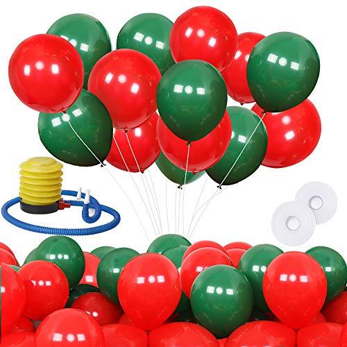Venga amigos decorazioni per palloncini di natale,200 pezzi 10 pollici nero e arancio palloncini in lattice di natale e pompa a palloncino per festa di compleanno di nozze