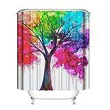 KnSam Duschvorhang Badewannevorhang Wasserdicht Anti-Schimmel inkl. 12 Duschvorhangringe Natur Baum Bad Vorhänge für Badezimmer - Stil 3 150x180cm
