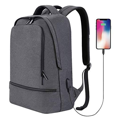 Reyleo, zaino uomo zaino casual borsa unisex per lavoro e viaggio, 48.5cm, borsa da scuola per pc - nero