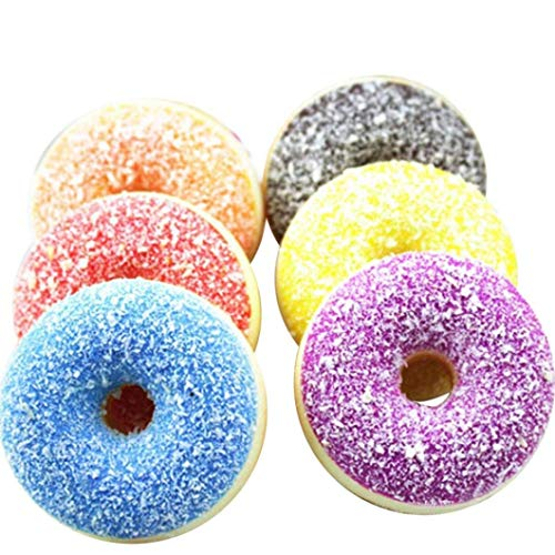 _Toy Squishy Squeeze Stress Reliever Soft Random Colourful Doughnut Scented Slow Rising Toys Food Donut Cake Girls Adults