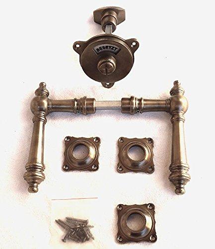 Graf von Gerlitzen Messing Tür Griff WC Set Türgriffe Rosetten Türbeschlag R29A