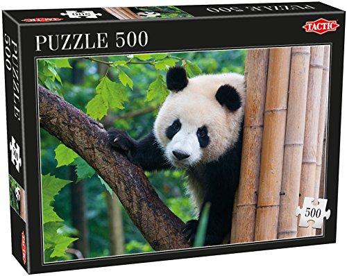 Tactic Panda Puzzel 500 pcs Puzzle - Rompecabezas (Puzzle Rompecabezas, Fauna, Niños y Adultos, Panda, Niño/niña, 9 año(s))