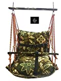 CODE Baby Soft Velvet Foldable Swing with Safety Belt || 6 Months - 1.5(18 Months) Year Child || Outdoor/Indoor Swing || Jhula for Babies - (Small, Multicolour, Multiprint)