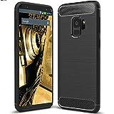Samsung Galaxy S9 Carbon Hülle - Schutzhülle Silikon Case Tasche Backcover in schwarz