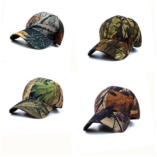BAITER Berretto da baseball Unisex Camouflage sole Simplicity – Outdoor  Uomo Pesca Cappello Woodland Camo tattico con visiera per trekking e caccia b64a0b3f88b0