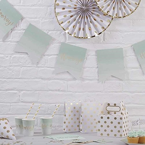 (Pick and Mix - Mint Green Ombre & Gold Foiled Paper Bunting)