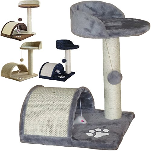 TIRAGRAFFI per Gatti Alto 52 CM. Base 40 X 40 CM (Il Piu\' Grande Online) GRAFFIATOIO Parco Giochi Gioco Gatto SISAL Cuccia Albero Tira GRAFFIO Palestra - Grigio