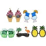 Sharplace 5pcs Gafas de Sol Estilo Hawaiano Bebida Vidrios de Anteojos Noche Partido Accesorio de Fiesta de Playa de Verano Piscina Party