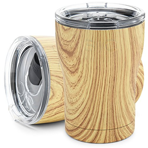 SIC Glacier Edelstahl Tumbler 12 Oz. Woodgrain-12 - Travel Vakuum-versiegelt Mug