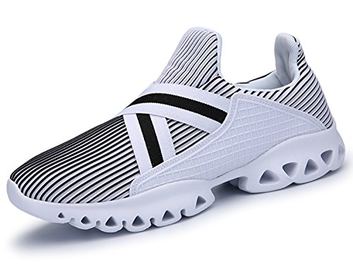 IIIIS-R Herren Damen Unisex Laufschuhe Walkingschuhe Leichtathletikschuhe Fitnessschuhe Weiß