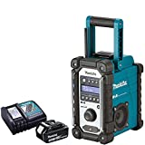 Makita DMR109 10.8v-18v LXT/CXT LI-ion Job Site Radio With BL1830 3.0Ah Battery & DC18RC Charger