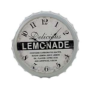 Landon Tyler Horloge en forme de capsule de limonade 33,5 cm