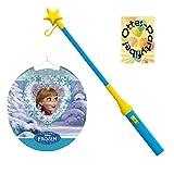 Laternenset Ballonlaterne Lampion Frozen Die Eiskönigin Anna und Elsa + Laternenstab Leuchtstab mit Stern