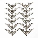 12 unds Apliques esquineros de metal plateado para manualidades scrapbooking restauracion decoracion de OPEN BUY