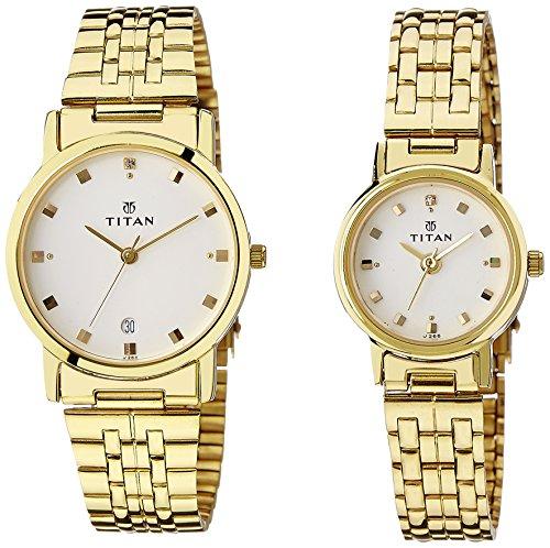51VIxCIEVcL - Titan NC617917YM07 Bandhan Couple watch