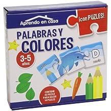 APRENDO EN CASA LAS PALABRAS Y LOS COLORES PUZLES EDUCATIVOS (3-5 años)
