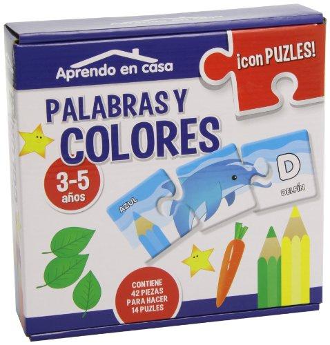 APRENDO EN CASA LAS PALABRAS Y LOS COLORES PUZLES EDUCATIVOS (3-5 años) por Mónica MARTÍNEZ VICENTE