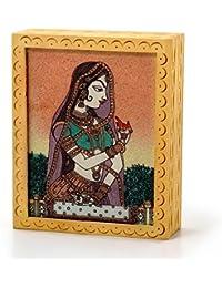 Ethnic Gemstone Painted Wooden Hot Jewelry Box 355