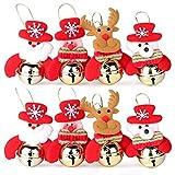 Weihnachten Glocke Dekorationen, Weihnachtsbaum Anhänger Dekoration Christbaumschmuck Verzierung für Weihnachtsfeier, 8 Stück