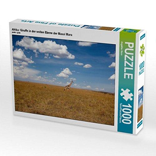 Afrika: Giraffe in der weiten Ebene der Masai Mara 1000 Teile Puzzle quer (CALVENDO Tiere) - Masai Giraffe