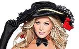 shoperama Piratenhut mit Spitze für Piratin Damen-Kostüm Samt Fasching Karneval Pirat