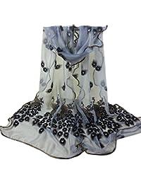 683005d5d127 Amazon.fr   Foulard Cheveux - Gris   Châles   Echarpes et foulards ...