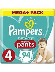 Pampers Baby Dry Pants Größe 4 Maxi 9-15 kg Mega Plus Pack