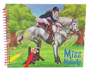 La señorita Melody 048406_A - Vista para arriba su caballo, Caballo Coloring Book, multicolor
