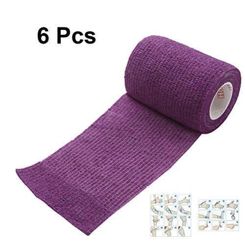 ULTNICE 6 Roll Kohäsive Wrap Bandageband Selbstklebende Bandage Tape für Athletic Sport 7.5x450cm -