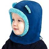 Cheeky Monkies Bambino Kids Giocoso Passamontagna, Cappello invernale caldo con cappuccio, maschera da sci scaldacollo per bambini, Blu / Blue
