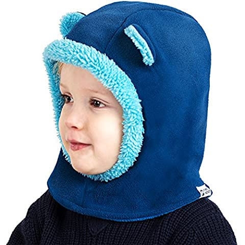 Cheeky Monkies Playful Fleece Thermal Balaclava BLUE Kids Ages 1 - 6