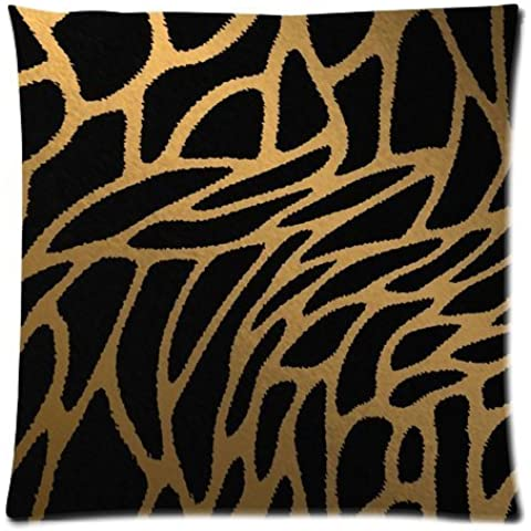 Casebynow Custom Animal Leopard Zebra Print Personalized Cushion Case 18x18 Inches 300 Thread Count Pillow Cover
