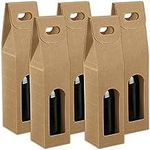 50x 1er Flaschen Schwarz Weinkarton Weintragekarton WeinverpackungSeta mit Tragegriff 34 x 9 x 9 cm Tragekarton